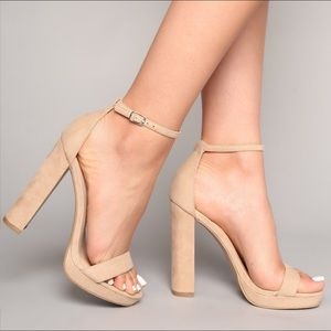 Fashion Nova Your Biggest Fan Heels